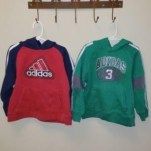 Two Adidas Hoodies